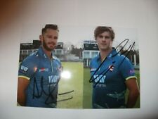 DOUBLE SIGNED KENT CRICKET PHOTO-NORTHEAST AND ROUSE