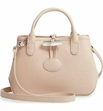 NWT Longchamp Roseau Tote Small Crossbody Bag Ivory Beige France Made AUTHENTIC