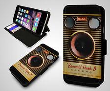 Cámara Antigua Fotografía Vintage peculiar Kodak Cuero Billetera a presión Funda Protectora De Teléfono