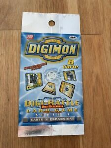 ITALIAN Digimon Cards Digi Battle Series 1 Booster Pack Sealed New