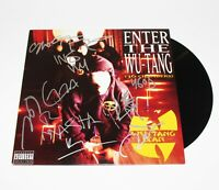 WU-TANG CLAN GROUP SIGNED ENTER THE 36 CHAMBERS ALBUM VINYL RECORD LP w/COA x8