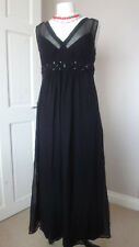 GORGEOUS CRAVE MATERNITY / PREGNANCY 100% SILK BLACK DRESS BNWT SIZE UK 12