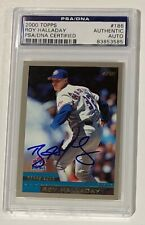 Roy Halladay 2000 Topps Autographed Baseball Card PSA DNA Signed Auto