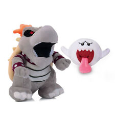 Super Mario Bros Dry Bowser Bones Koopa and Boo Ghost Soft Plush Toy 2pcs