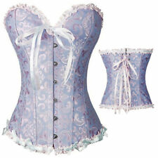 Renaissance Women Waist Training Corset Lace up Bustier top Overbust Boned