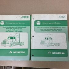 International IH 5000 9200 9400 9900 ELECTRICAL DIAGRAMS TROUBLESHOOTING MANUALS