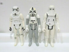 Vintage Star Wars Stormtroopers and AT-AT Driver x3 figures 100% Original