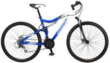 """29"""" Iron Horse Sinister Dual Suspension Mountain Bike, Blue White"""