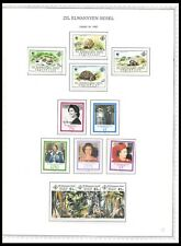 SEYCHELLES 1987-88 ISSUES ON 3 PAGES (LHM/UHM) *CLEAN & FRESH*