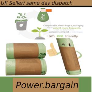 5 - 6 litre Biodegrade able/ Compostable Food Waste Caddy Bin Liner Bags 5L - 6L