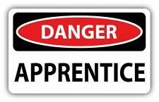 "Danger Apprentice Sign Warning Car Bumper Sticker Decal 6"" x 4"""