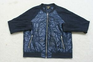 Tommy Bahama Blue Jacket Coat Polyester Boys Size Large Solid Zip Front Puffer