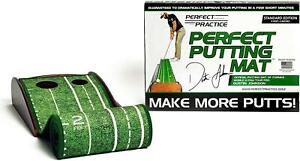 Perfect Practice Golf Putting Mat Official Dustin Johnson Standard Value Pack