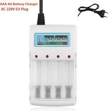 4 Slots Universal Lithium NiMH Battery Charger Adjustable for AA AAA EU plug