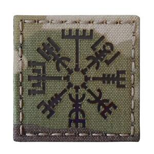 norse viking vegvisir infrared IR multicam 2x2 morale tactical laser hook patch