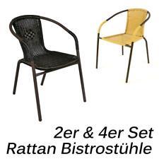Bistrostuhl Stapelstuhl 2er 4er Set Rattan Farbe und Menge wählbar Gartenstuhl