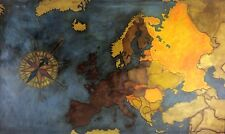 THE EUROPEAN CONTINENT. PAINT OIL ON CANVAS. SPAIN. ANONYMOUS. CIRCA 1950