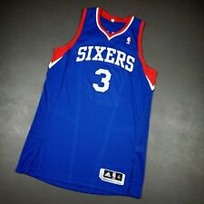 "100% Authentic Allen Iverson Adidas Sixers Jersey Size XL+2"" Mens Mesh #"