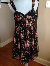 Candies Junior Dress Multi Floral Open Back  Polyester Size 5 D79