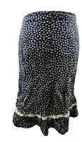 Vintage Women Skirt Blue Navy Floral Print Ditsy Embroidered Blogger Spring 10 S
