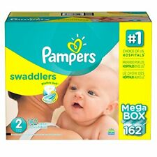 Pampers Swaddlers Diapers, Size 2, 162 Count