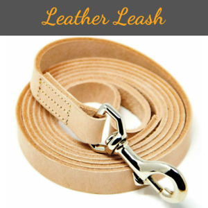 """Genuine Leather Dog Leash Extra Strong 6 Ft Long Control Lead 3/8"""" Wide Boxer"""