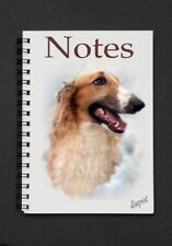 Borzoi Dog Notebook/Notepad with small image on every page - By Starprint