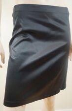 DOLCE & GABBANA Ladies Black Satin & Grey Denim Short / Mini Skirt IT44; UK12