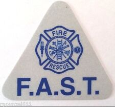 F.A.S.T. Reflective Helmet Decals -20 pcs.-Firefighter Assisted Search Team-Blue