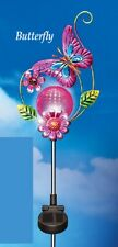 Solar Powered Lighted Decorative Globe Butterfly Garden Stake