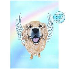 Golden Retriever Dog Angel Art Picture Dog Memorial Pet Loss Gift Willie