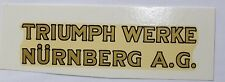 TRIUMPH inscription décalcomanie à eau Décalque,90x21 mm, or