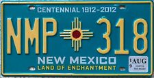 GENUINE New Mexico Centennial USA Licence License Number Plate Tag NMP 318