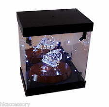 Acrylic Display Case Light Box for Swarovski Crystal Gouldian Finches Frogs Rose