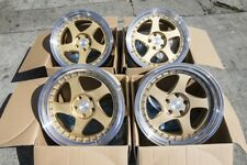 18x9.5/10.5 Aodhan AH01 5x114.3 +30/35 Gold Rims Fits G35 350Z Mustang (Used)