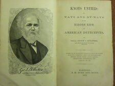 New York Police American Detective Biography- Officer George McWatters c.1878 CD