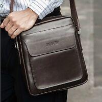 Mens Genuine Leather Messenger Shoulder Briefcase Laptop Handbag School Bag New