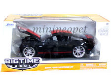 JADA BIGTIME 96868 2010 FORD MUSTANG GT 1/24 DIECAST BLACK with RED STRIPES