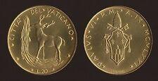 VATICANO - 20 LIRE 1971 - PAOLO VI FDC/UNC FIOR DI CONIO