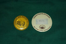 2 Vintage Ontario Canada Mini Tractor Pull & Plowing Match Buttons