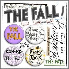 THE FALL ③ Mark E Smith Post Punk John Peel Beggars Manchester Badge Set x4