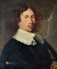 PORTRAIT D'HOMME XVIIIe A RESTAURER HUILE SUR TOILE TABLEAU ANCIEN