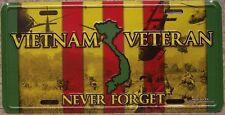 Aluminum Military License Plate Vietnam Veteran Montage NEW