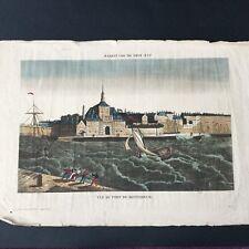 Port de ROTTERDAM - Vue Optique XVIIIè Holland Dutch Etching 18thC