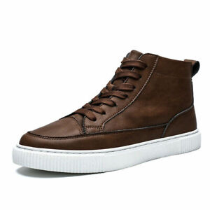 Mens High Top Boards Shoes Outdoor Walking Sports Non-Slip Comfort Casual Shoes
