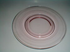Tiffin Franciscan Elegant Glass #14196 PINK Luncheon Plate (loc-2E)