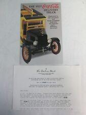 Danbury Mint Brochure 1927 Coke Delivery Truck