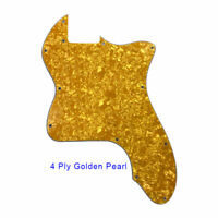 For US Classic telecaster 72 thinline Tele Guitar Pickguard Blank, Golden Pearl