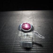 Ring, Gr. 61  Silber 925 mit einem Sternrubin Cabochon aus Indien