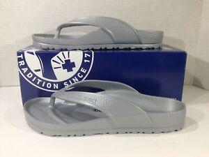 BIRKENSTOCK Women Honolulu Eva Silver Flip Flop Sandals Shoes Sz 9 EU40 ZB6-1704